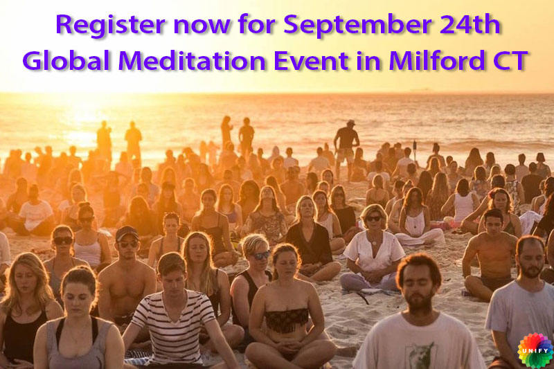 Global Peace Meditation event on September 24, 2017, 7pm Milford CT.