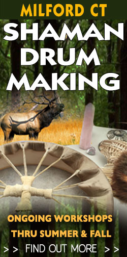 make your own Native American drum in ceremony.